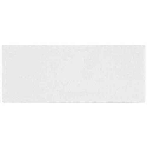 "White Ceramic Subway Tile 4"" X 10"" (Box of 10 Sqft)- Matte Finish"