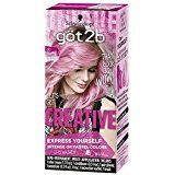 Got2b Creative Semi-Permanent Hair Color, 093 Pretty In Pink (Pack of 12)