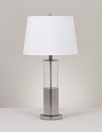 ashley-l431354-norma-modern-table-lamp-brushed-nickel-finish-set-of-2
