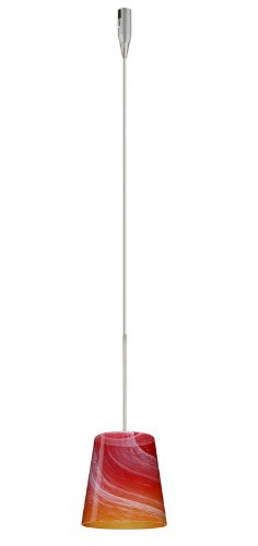 Besa Lighting RXP-5131SL-SN 1X50W Gy6.35 Canto 5 Pendant with Solare Glass, Satin Nickel Finish