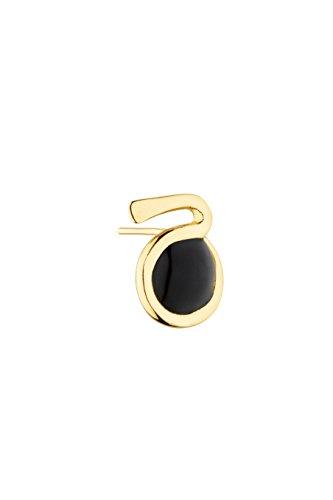 Gripoix Paris Boucles d'Oreilles Laiton Ronde Verre Noir Femme
