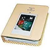 64 Pockets 3 Inch Piece of Moment Candy Color Fuji Instax Photo Mini Book Album or Name Card for Instax Mini 70 7s 8 25 50s 90 Film/ Pringo 231/ Fujifilm Instax SP-1/ Polaroid PIC-300P/ Z2300-Beige ()
