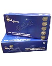 Guantes de Nitrilo, sin polvo, 100 piezas en Small, Medium, Large,