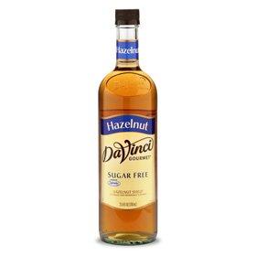 DaVinci SUGAR FREE Hazelnut Syrup w/ Splenda 750 mL