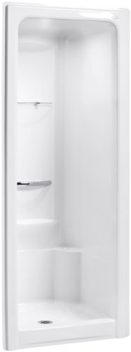 Sonata 1 Piece Shower (KOHLER K-1689-0 Sonata 36-Inch x 36-1/2-Inch x 90-Inch Center Drain Shower Stall with Integral High-Dome Ceiling, White)