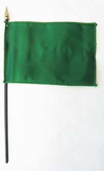 Irish Green Attention Flag - Solid Color 4