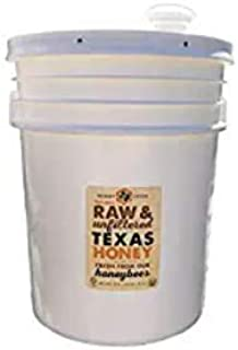 product image for Raw, Unfiltered, Unpasteurized Texas Honey by Desert Creek Honey 5 Gallon (60 lbs) Bulk Bucket Non-GMO, Kosher