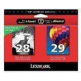 Lexmark 28/29 18C1590- Black and Color R...