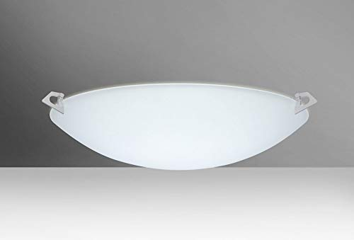 Besa Lighting 841925-LED-SN 3X10W Gu24 LED Sonya 20 Ceiling Flush Mount with White Glass, Satin Nickel Finish