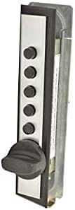 C9602-26D Simplex Cabinet Lock For Wood Door 5/8 to 7/8 / End-Throw / Spring Latch / With Plate / Satin Chrome
