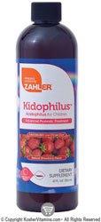 Zahlers Kidophilus ( Acidophilus Liquid for Children) Natural Strawberry Flavor - 12 FL OZ