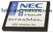 NEC DS1000 /DS2000 IntraMail 8 Port 8 Hour VOICE MAIL ~ 8x8 128MB FLASH MEMORY CARD Part# 80128