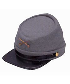 (Civil War Wool Lined Kepi Hat)