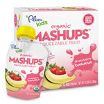Plum Organics Plum Kids Strawberry Banana Organic Mashups Fruit Mashups 4 (3.17 oz.) pouches (a)