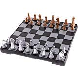 Chess Sets - Chess Board - Chess Set for kidf, Adults,Folding Magnetic Chess Set with Folding Chess Board for Kids and Adults Funny Camping Travelling Beach Chess Board Games Gift