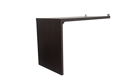 - Boraam 10010 Techny Collection Claude Hollow Core L-Desk/Bookcase, Espresso
