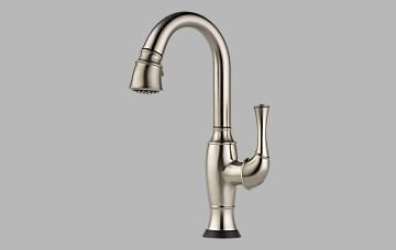 Brizo 64903LF-SS Talo Single Handle Pull-Down Bar/Prep Faucet with SmartTouch, - Brizo Prep Faucet