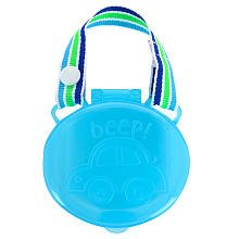 Babies R Us BPA Free Pacifier Case Protector Keeper - Cute Blue Car by Babies R Us