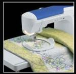 Brother SATFM6000D Wide Extension Table 17x23'' plus Freemotion Quilting Grip Ring for Quattro NV6750, NV6700D, NV6000D, and Babylock Elissimo BRSO