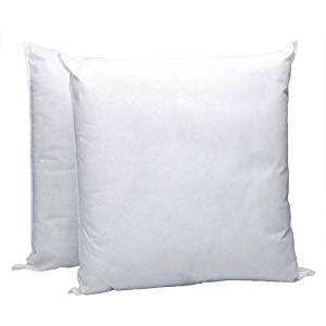 IZO All Supply Square Sham Stuffer Hypo-Allergenic Poly Pillow Form Insert, 16 L x 16 W (2 Pack)