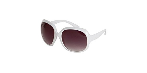 made2envy Oversized Frame Fashion Sunglasses (White/Solid, - Sunglasses Most The Expensive Brand