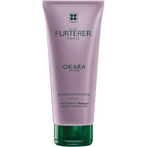 Rene Furterer OKARA SILVER Toning Shampoo, Purple Shampoo for Blonde, White, Grey, Silver, Pastel Hair, 6.7 Fl Oz