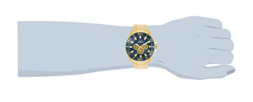 Invicta Pro Diver Men 50mm Stainless Steel Gold Blue dial Quartz, 30785