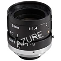 Azure Photonics AZURE-2514MM 2/3 25mm F1.4 Manual Iris C-Mount Lens, 2 Megapixel Rated