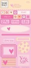 Heidi Grace Designs - Heidi Grace Designs Embossed Shapes Cardstock Stickers - Bouquet