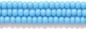 Preciosa Ornela Czech Opaque Seed Bead, Dark Turquoise Blue, Size 10/0 Shipwreck Beads 10SB165