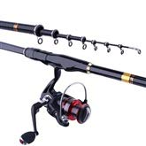 LHA フライロッド 釣り竿セット、強いウエストガイドリング、釣り重さを増やす5.4メートル6.3メートル 6.3m  B07NZSQGP8
