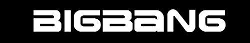 BIG BANG logo KPOP (WHITE) (set of 2) Premium Waterproof Vinyl Decal Stickers for Laptop Phone Helmet Car Window Bumper Mug Tuber Cup Door Wall (1' Wall Bumper)