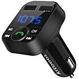 Kitbeez Wireless Bluetooth FM Transmitter, Handsfree Call Car Charger Radio Receiver&Mp3 Music Stereo Adapter,Dual USB Port Charger Compatible for iPhone,iPad,Samsung Galaxy,LG,HTC,Smartphone