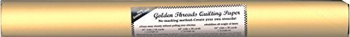 Golden Threads Quilting Paper - 24 Inches Wide x 20 Yards Long: Trace, Stitch, Quilt, Tear, Pounce by Golden Threads