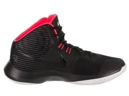 Nike Mens AIR Precision Black/Black Solar RED White Size 12