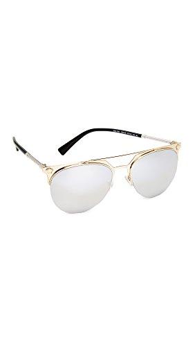 Versace Women's Medusa Aviator Sunglasses, Pale Gold/Silver, One - Versace Medusa Gold