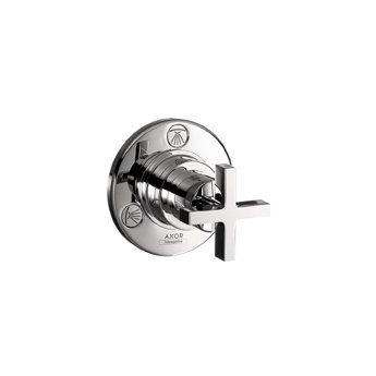 Axor 39927001 Citterio Trio/Quattro Trim with Cross Handle in Chrome