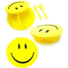 SHARK TALE Round Shape Smiley Lunch Box for Kids -Set of 1Pc