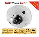 4MP PoE Security IP Camera - Built in Microphone Mini Dome Indoor and Outdoor 2.8mm Lens SD Card Slot Audio Alarm in and Out Compatible with Hikvision Performance Series DS-2CD2543G0-IS English ver