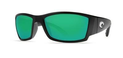 Costa Del Mar Corbina Sunglasses, Black, Green Mirror 400G Lens