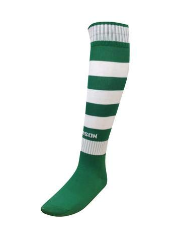 Title: Trendy Hoop Socks Multiple Colors and Sizes – Elastic Socks with Full Cushioned Footbed – Super Stretchable for Extra Comfortable Footwear, 90% Nylon & 10% Elastic (Kelly Green/White, Youth)