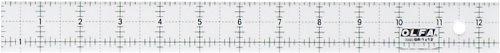 olfa-1071831-qr-1x12-1-inch-x-12-inch-frosted-advantage-acrylic-ruler