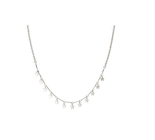 Tiande Lucky Star Choker Necklace Pendant Disc Chain Statement Necklace Women Girls - Gold2