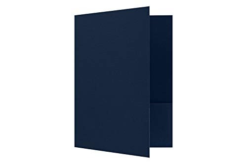 Folder Linen - 9 x 12 Presentation Folders - Dark Blue Linen - Pack of 25 | Perfect for Tax Season, Brochures, Sales Materials and so Much More! | PF-DBLI-25
