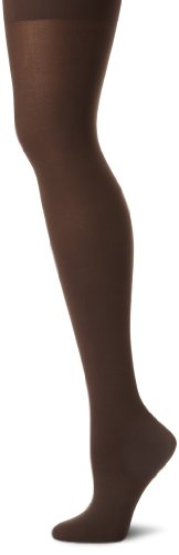 Calvin Klein Women's Opaque Tight, Black Coffee,Large