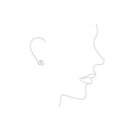 Boucles d'Oreilles Enfant ronde - Or Blanc 750/1000 (18 Carats)