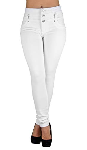 Colombian Design, Butt Lift, High Waist Skinny Jeans in White Size 3