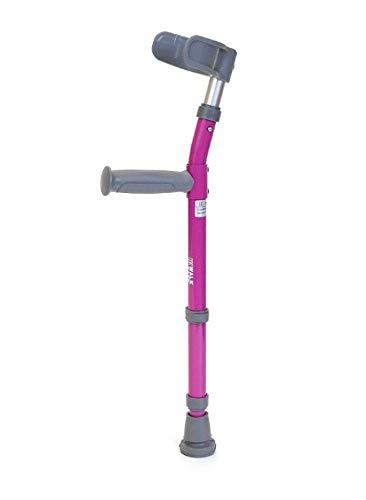Walk Easy Toddler Forearm Crutches Model Half Cuff 564 (Pair) (Purple)