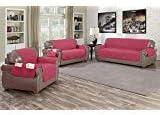 J&J home fashion loveseat Cover Purplish red