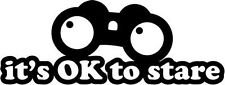 It's ok to Stare JDM Decal Vinyl Sticker|Cars Trucks Vans Walls Laptop|BLACK |7.5 x 2.75 - Pill Black Tl